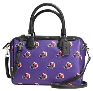 Coach Strap Zip Top Flowers Multicolor Adjustable Cross Body Bag