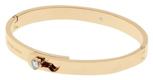 Michael Kors RoseGold-Tone Hinged Bangle Bracelet