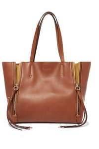 Chloé Chloe Leather Milo Medium Tote in light brown