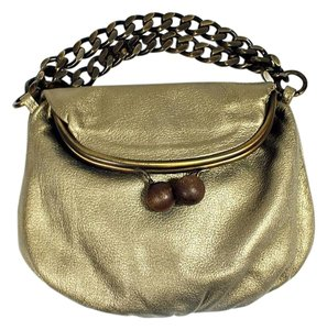 Erva Martina Kiss Lock Satchel in Bronze