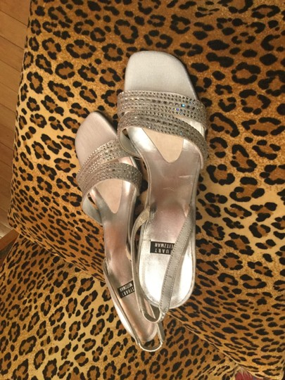 Stuart Weitzman Silver and crystal Sandals