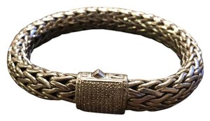 John Hardy Classic chain bracelet with diamond pave