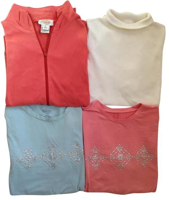 Item - Multicolor 4 For 1 Special Long-sleeve Ts + Full Zip Fleece Combo Jacket Size 8 (M)