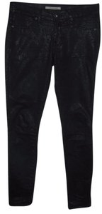 Rich & Skinny Animal Print Skinny Jeans-Dark Rinse