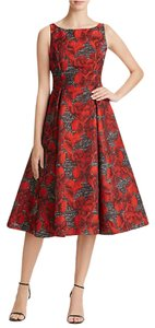 Adrianna Papell Jacquard Tea Length Dress