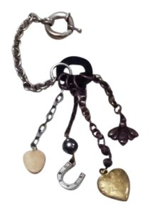 Longaberger So Rachel Antique Style Charm Keychain