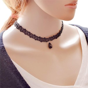 Other NEW Crochet Lace Black Drop Bead Adjustable Choker Necklace