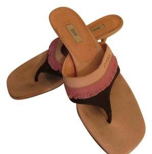 Prada Pink/Brown Sandals