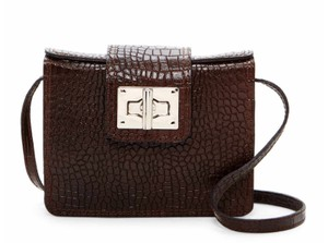 Persaman New York Box Crocodile Snakeskin Animal Print Exotic Cross Body Bag