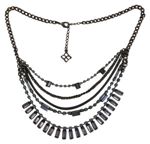 BCBGMAXAZRIA brass statement necklace