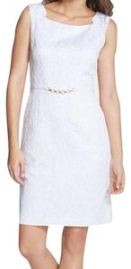 Ellen Tracy Jacquard Sheath Chain Pencil Dress