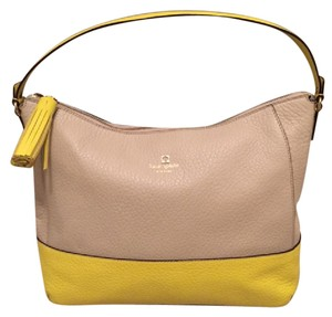 Kate Spade Leather Southport New York Gold Hardware Two-tone Hobo Bag