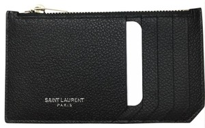 Saint Laurent ysl card holder zipper pouch