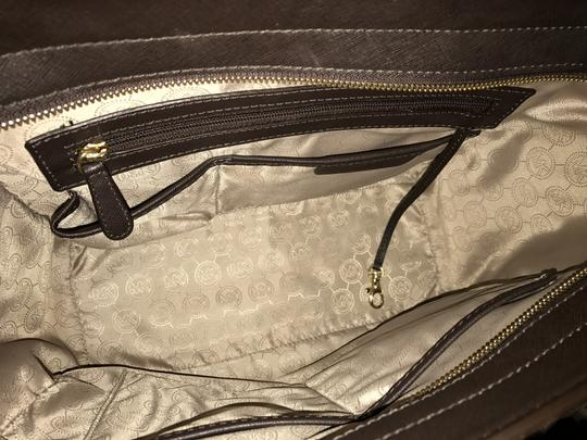Michael Kors Selma Leather Studded Tote in chocolate brown w/ gold studs Image 5