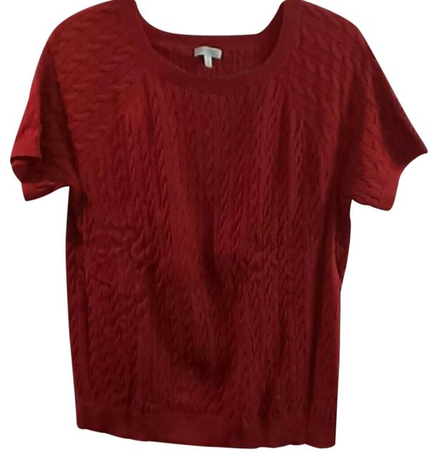 Preload https://img-static.tradesy.com/item/20734400/talbots-red-dainty-looking-textured-blouse-size-16-xl-plus-0x-0-1-650-650.jpg