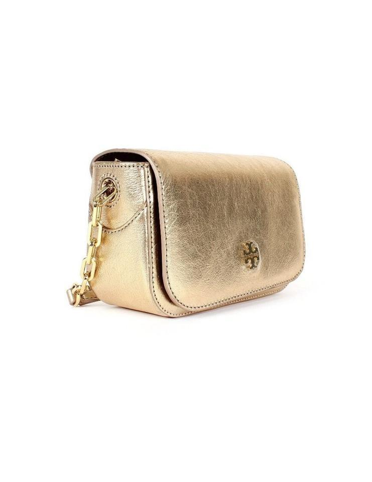 518358f720c0 Tory Burch Caitlin Mini Shoulder Metallic W Gift Receipt Gold Leather Cross  Body Bag - Tradesy