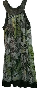 Green and Brown Maxi Dress by Mlle Gabrielle Summer Sundress