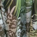 Mlle Gabrielle Green and Brown W & Summer W/ Decorative Neckline Mid-length Casual Maxi Dress Size 16 (XL, Plus 0x) Mlle Gabrielle Green and Brown W & Summer W/ Decorative Neckline Mid-length Casual Maxi Dress Size 16 (XL, Plus 0x) Image 3