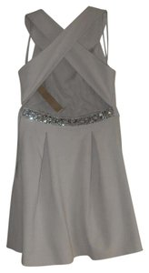 Rachel Roy Embellished Halter Crossover Dress