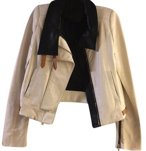 A.L.C. Leather White Leather Jacket
