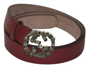 Gucci NWT GUCCI SWAROVSKI CRYSTAL INTERLOCKING GG LEATHER BELT SZ 42 105