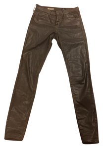 AG Adriano Goldschmied Farrah Skinny Faux Leather High Rise Skinny Jeans-Coated
