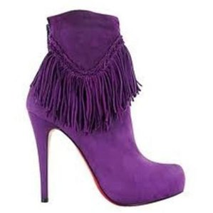 Christian Louboutin Ankle Mercura Wing Amethyste (Purple) Boots