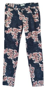 Free People Cords Multi-colored Boho Skinny Pants Patterned