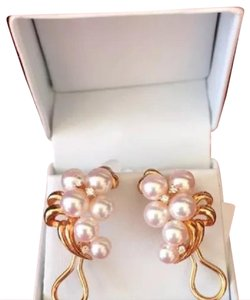 Mikimoto AUTHENTIC 18KT AKOYA PEARL AND DIAMOND EARRINGS