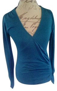 Michael Stars Suplice Longsleeve Shimmer Top Blue