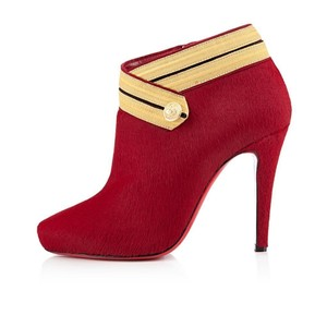 Christian Louboutin Ankle Marychal Pony Red Boots
