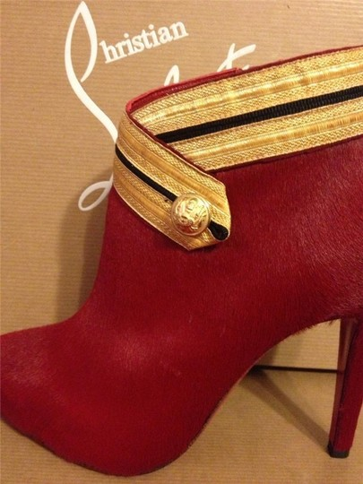 Christian Louboutin Ankle Marychal Pony Red Boots Image 10