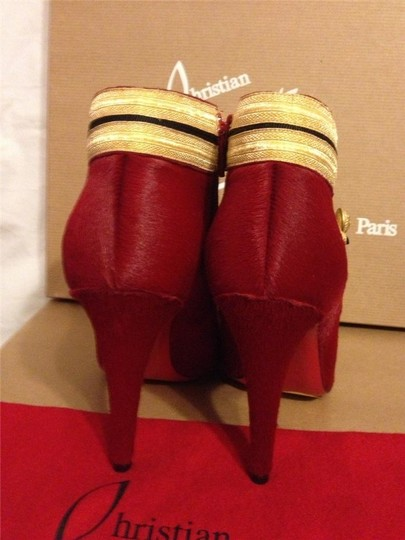 Christian Louboutin Ankle Marychal Pony Red Boots Image 4