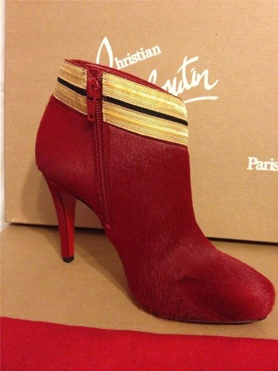 Christian Louboutin Ankle Marychal Pony Red Boots Image 5