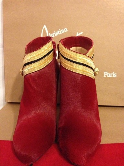 Christian Louboutin Ankle Marychal Pony Red Boots Image 6