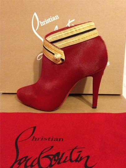 Christian Louboutin Ankle Marychal Pony Red Boots Image 7