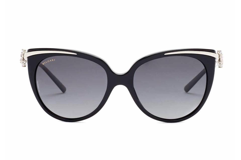 fe8446882e BVLGARI NEW Le Gemme Cat Eye Sunglasses Semi-Precious Stones Polarized  BV8089K Image 0 ...