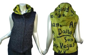 Mycra Pac Hooded Grafitti Quilted Textured Reversible Vest
