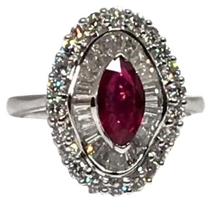 Other CERTIFIED $7,800 ESTATE LADIES RUBY AND DIAMOND 18 KT RING 3.77 TOTAL TCW AMAZING‼️
