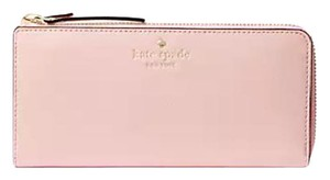 Kate Spade Mikas Pond Nisha Pink Accordion Zip Wallet