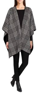 Ike Behar IKE BEHAR REVERSIBLE FASHION WRAP SWEATER BLK/CHAR/CREAM-New