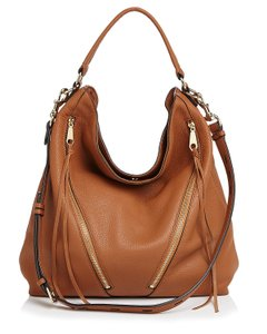 Rebecca Minkoff Leather Brown Gold Moto New With Tags Hobo Bag