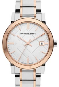 Burberry Two-Tone Large Check Two Tone Bracelet Watch