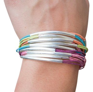 Mudd Multi Color Hemp String Toggel Bracelet NEW
