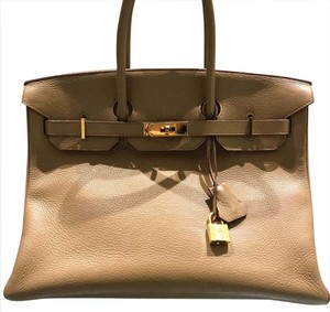 Herms Satchel in tabac, camel