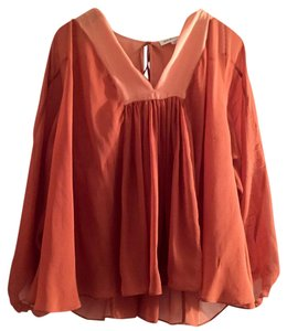 See by Chlo Chloe Chloe Silk Chloe Chloe Silk Top Terracotta/Coral