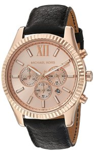 Michael Kors Michael Kors Lexington Leather Chronograph Mens Watch MK8516