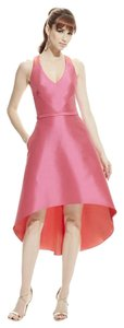 Theia Hi Lo V-neck Evening Dress