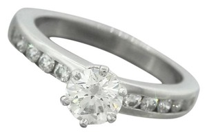Other Ladies Tiffany & Co. Platinum Round Brilliant Diamond Engagement Ring