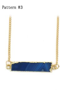 Ocean Fashion Fashion natural stone golden necklace Pattern #3